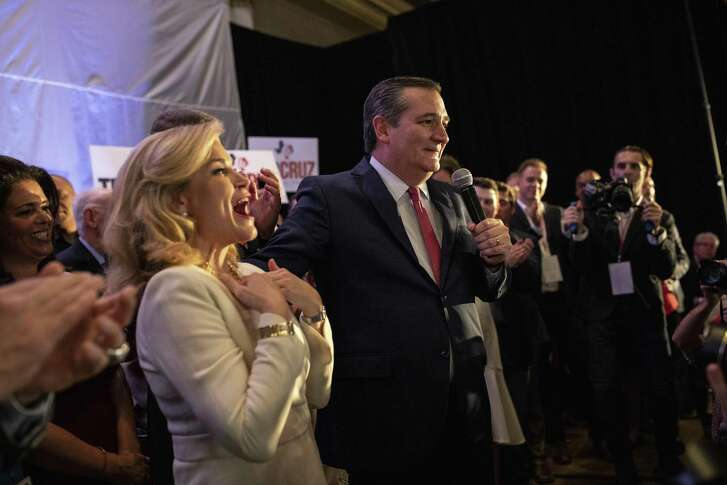 Sen. Ted Cruz, R-Texas, speaks at his election night victory party in Houston, Nov. 6, 2018.