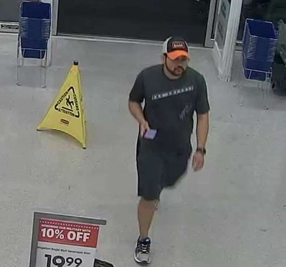 San Antonio police need help identifying a suspect who allegedly took pictures of two women in the Acadmey store dressing room at 11650 Bandera Road on Oct. 31. Photo: San Antonio Police Department