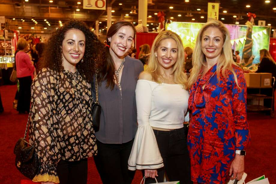 Stephanie Sallee, from left, Naomi Dalton, Sandrine El Hage and Sylvie El Hage at the Nutcracker Market opening night party. Photo: Gary Fountain/Contributor