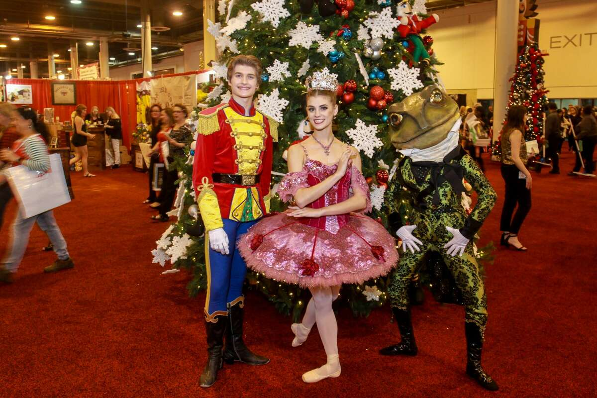 Augi Lehner, from left, Jacquelyn Long and Casey Vanden Berghe of the Houston Ballet, at the Nutcracker Market opening night party.