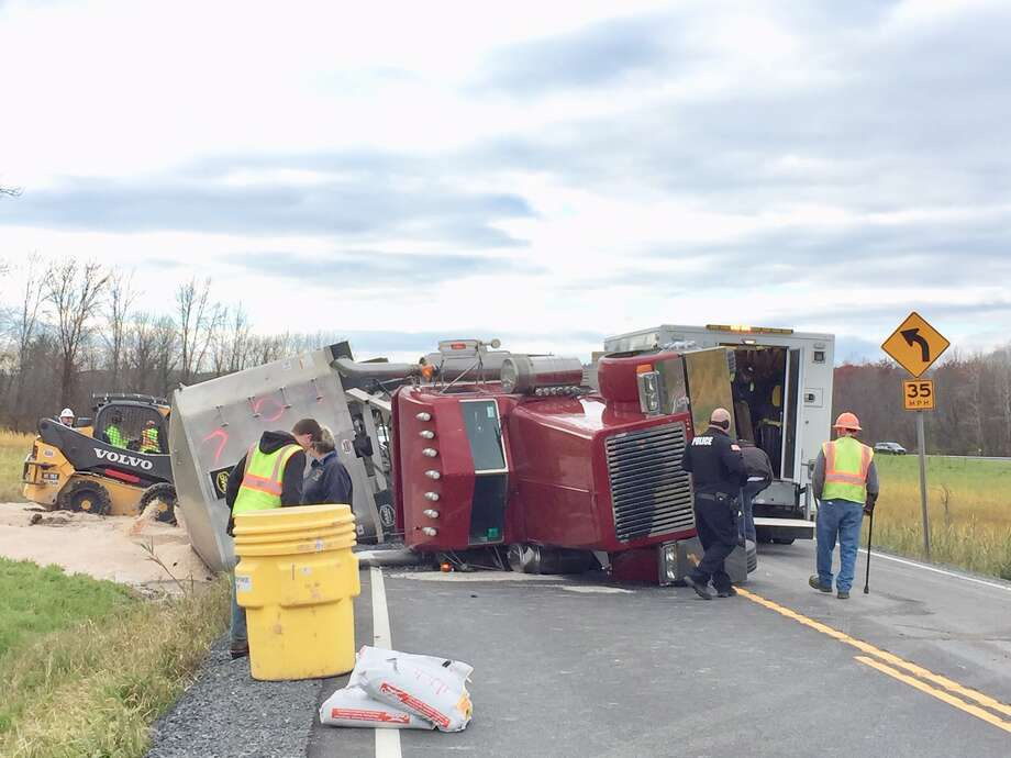 A tractor trailer rollover in Coeymans closed Route 144 (River Road) between Coeymans Industrial Park Lane and Bronk Road in both directions at 10:40 a.m., according to an alert from the state. Photo: Steve Hughes / Times Union