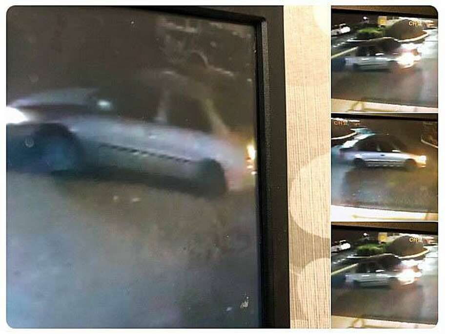 Milford police received several complaints of vehicles broken into early Thursday, Nov. 8, 2018 in parking lots of local hotels on the Boston Post and Plains Road. Officers released photos of a mid-2000s Toyota Corolla that is believed to be involved. Photo: Milford Police Department