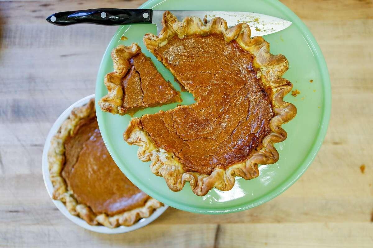 Pumpkin pie at Black Jet Baking Co.