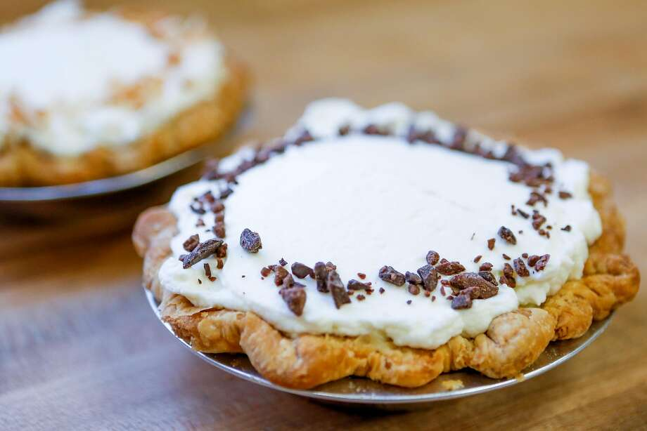 Banana cream pie (front) and coconut cream pie at Black Jet Baking Co. in S.F. Photo: Amy Osborne / Special To The Chronicle