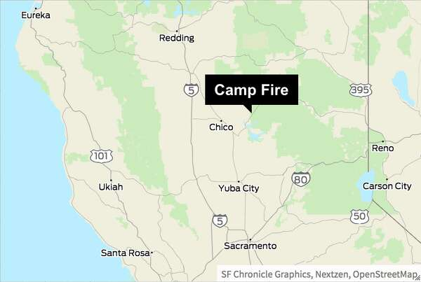 Camp Fire Map Paradise Ca.Social Media Posts Capture Intensity And Speed Of Camp Fire As It
