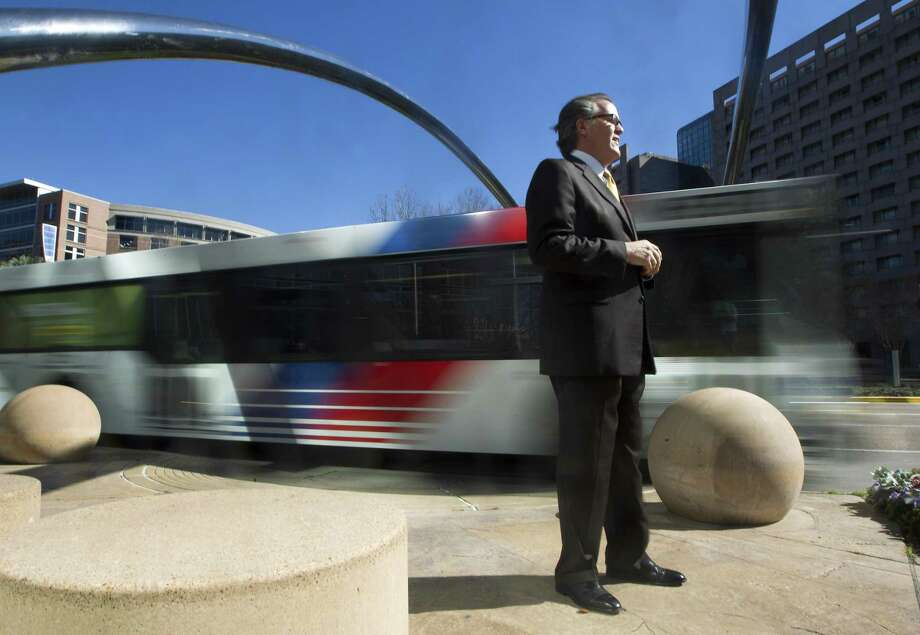 Uptown Houston President John Breeding poses for a portrait on Feb. 8, 2013, in Houston. Uptown is rebuilding Post Oak to add bus-only lanes in the center. Photo: J. Patric Schneider, Freelance / For The Houston Chronicle / © 2013 Houston Chronicle