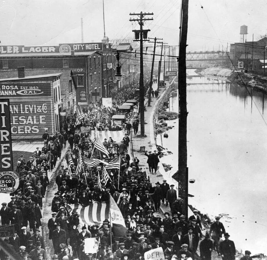 Armistice Day in Schenectady, Nov. 11, 1918 Photo: Schenectady County Historical Society