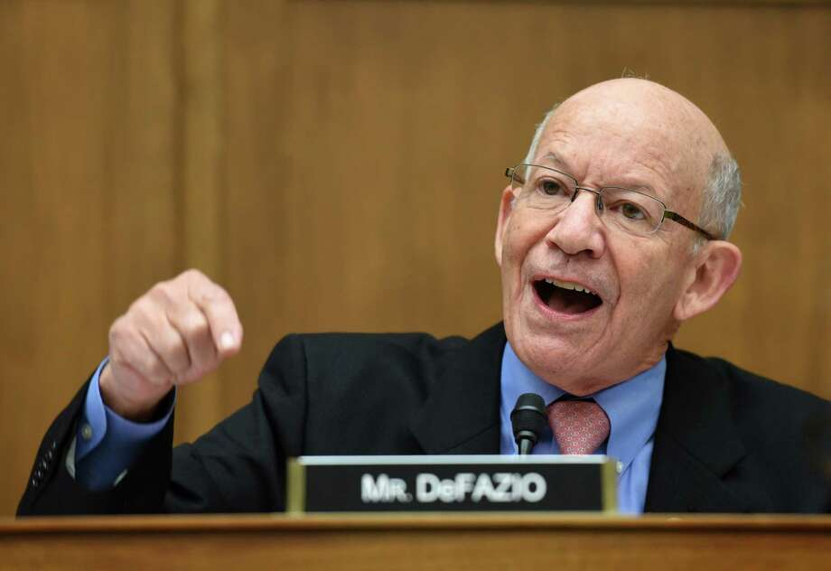 Rep. Peter DeFazio, D-Ore, gestures during a hearing in Washington, D.C., on Oct. 11, 2017. Photo: Bloomberg Photo By Olivier Douliery / Bloomberg