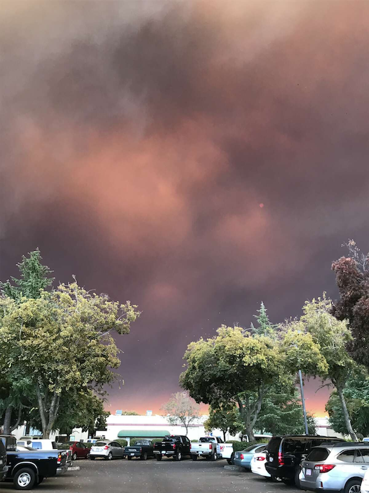 View of the Camp Fire taken by a resident of nearby Chico. Nov. 8, 2018