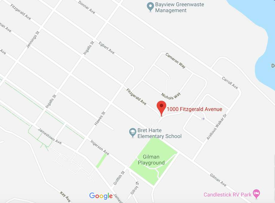 A shooting Tuesday afternoon in San Francisco's Bayview neighborhood left a woman with life-threatening injuries, authorities said. Photo: Google Maps