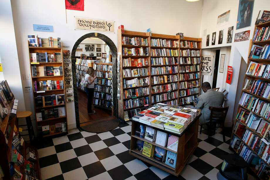 City Lights Books was the site of an election night reading. Photo: Dylan Entelis / The Chronicle 2011
