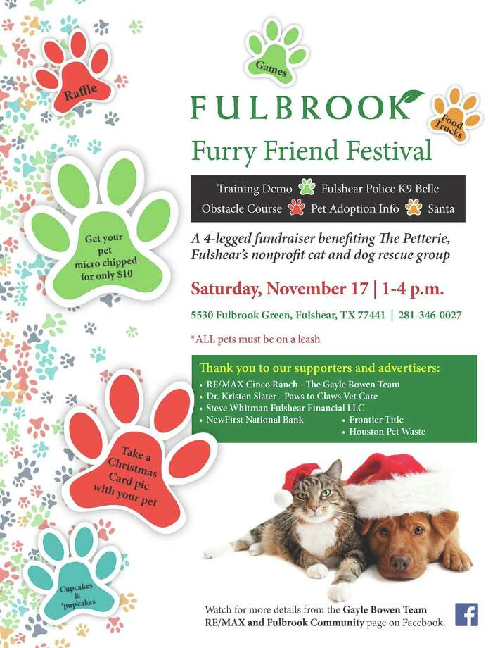 Fulbrook's upcoming Furry Friend Festival will benefit Fulshear's Petterie Rescue Group. Photo: Courtesy Photo