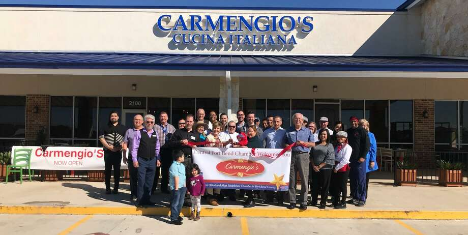 The Central Fort Bend Chamber recently turned out to support Carmengio's Cucina Italiana with a ribbon-cutting ceremony. The ceremony took place Nov. 2 at Carmengio's new location in Richmond at 1833 Williams Way Blvd., Suite 2100. Photo: Courtesy Photo