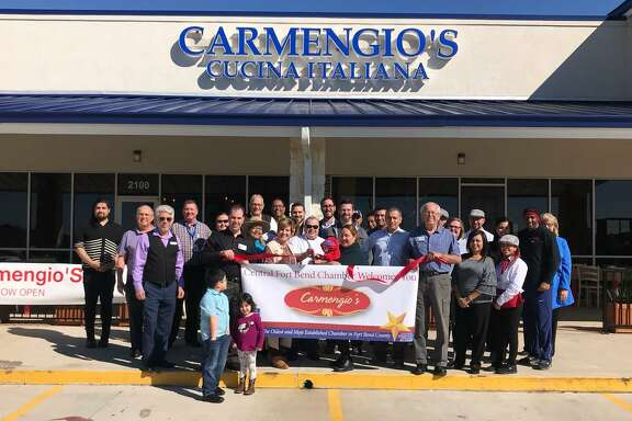 The Central Fort Bend Chamber recently turned out to support Carmengio's Cucina Italiana with a ribbon-cutting ceremony. The ceremony took place Nov. 2 at Carmengio's new location in Richmond at 1833 Williams Way Blvd., Suite 2100.