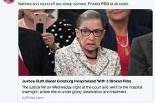 When news broke 85-year-old Supreme Court Justice Ruth Bader Ginsburg fractured three ribs, social media was quick to react.