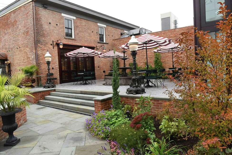 Back patio exterior of The Maker Lounge on Thursday, Nov. 1, 2018 in Hudson, N.Y. (Lori Van Buren/Times Union)