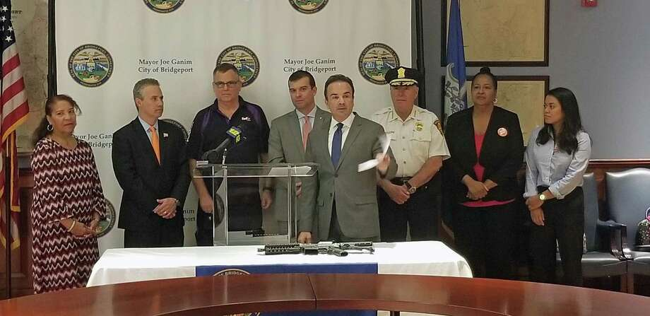 A photo from a press conference announcing the ordinance on Oct. 10, 2018. Photo: Contributed Photo / Bridgeport Mayor's Office / Contributed Photo / Connecticut Post Contributed