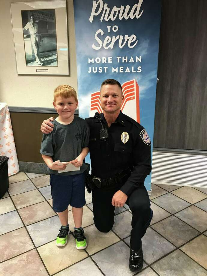 The Midland Police Department hosted Coffee with a Cop Thursday, Nov. 8, at Whataburger. Photo: Midland Police Department