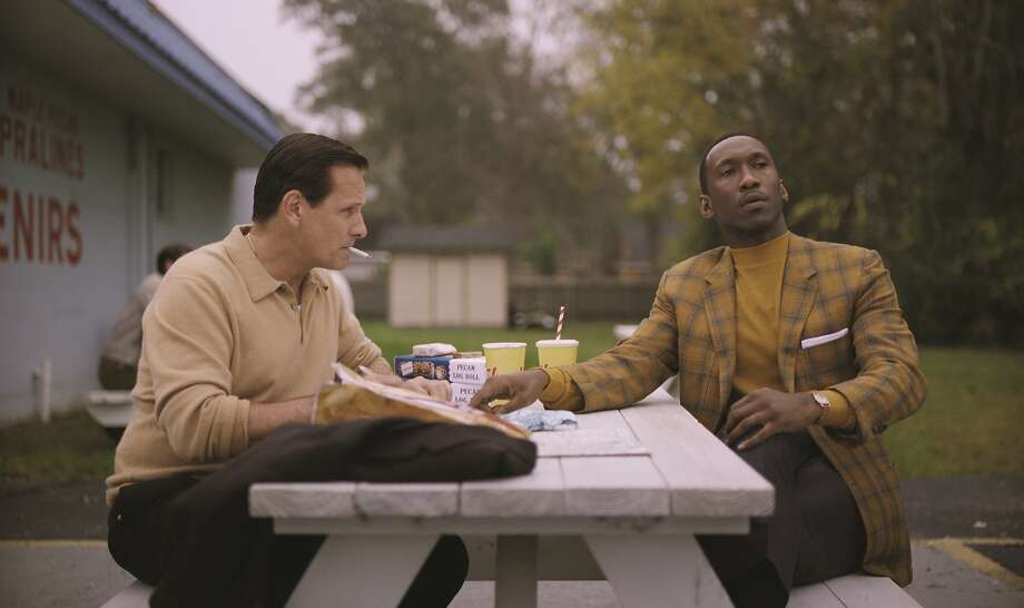 "Viggo Mortensen as Tony Vallelonga aka Tony Lip and Mahershala Ali as Dr. Donald Shirley in ""Green Book,"" directed by Peter Farrelly, opening at Bay Area theaters on Nov. 16.  Photo: Courtesy of Universal Pictures, Participant and DreamWorks Photo: Courtesy Of Universal Pictures, Participant And DreamWorks"
