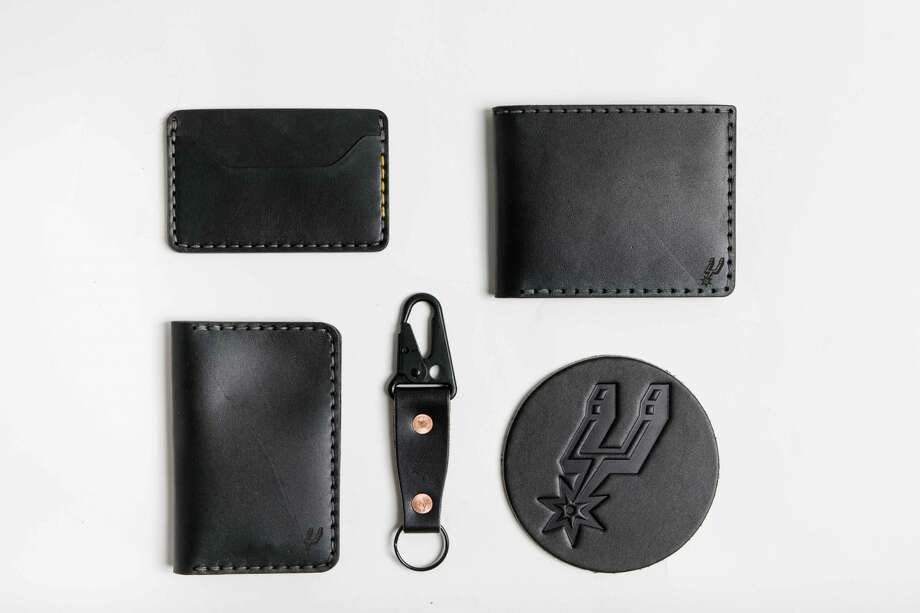 The Spurs collaborated with Bexar Goods, a local, handcrafted leather  designer, to create a 10-piece collection of branded items. Photo: Courtesy, Spurs Sports And Entertainment