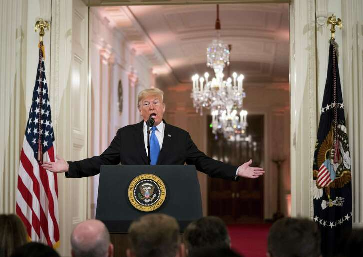 President Donald Trump speaks at a news conference on the results of the midterm elections, at the White House Wednesday. His racist and nationalistic political message cannot win national elections in the next 10 to 20 years.