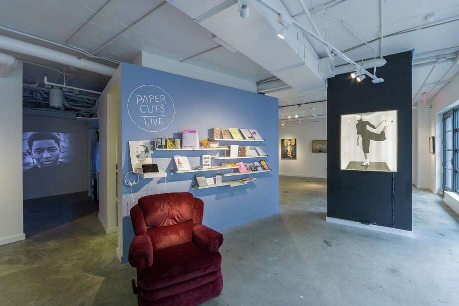 "A display of Christopher Kardambikis's ""Paper Cuts/Live"" exhibit at Washington Project for the Arts. WPA stands to lose $112,700 in funding from the DCCAH by not signing the memorandum. Photo: Washington Project For The Arts / Washington Project for the Arts"