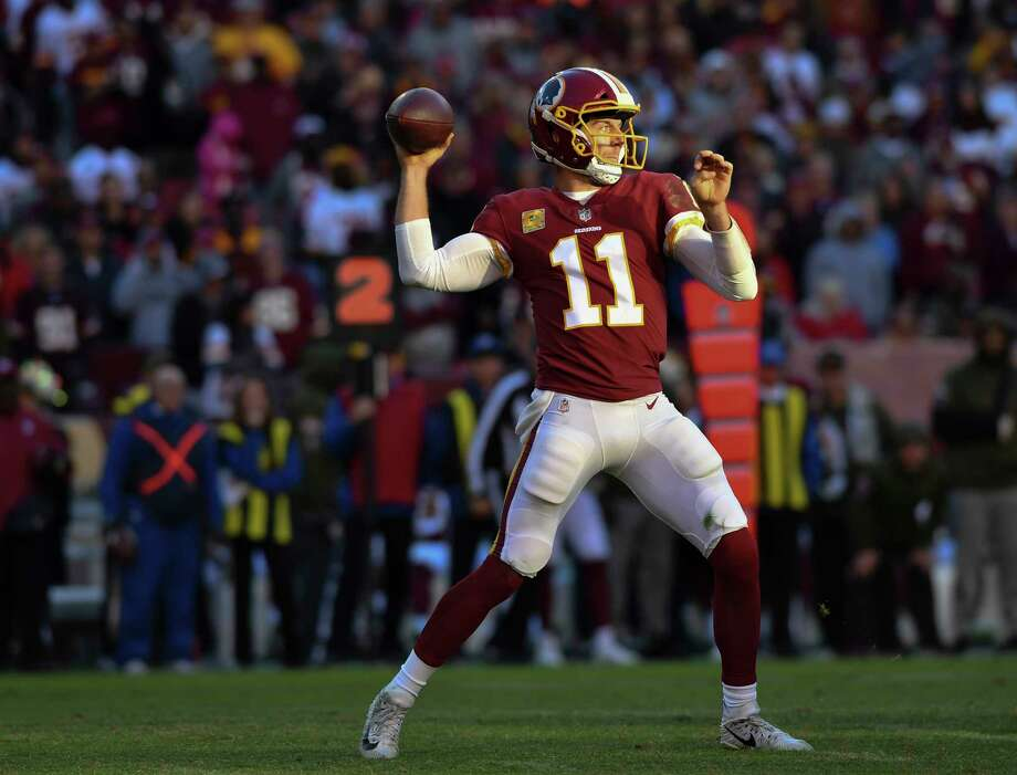 Redskins quarterback Alex Smith has thrown just three interceptions in 2018. He also could finish with fewer than 20 touchdown passes for the ninth time in 13 seasons. Photo: Washington Post Photo By Ricky Carioti / The Washington Post