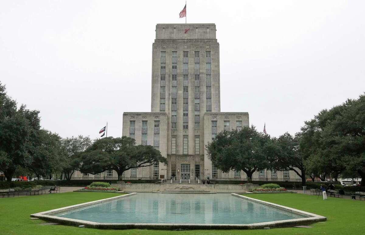 Houston City Hall Thursday, Nov. 8, 2018, in Houston.
