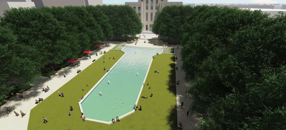 Renderings of proposed Houston City Hall and Hermann Square beautification project by landscape architecture firm Clark Condon Photo: Clark Condon / Clark Condon / Clark Condon