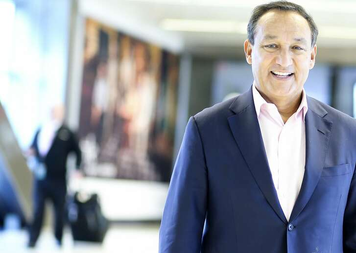 Oscar Munoz, CEO of United Airlines, poses for a photo at a George Bush Intercontinental Airport  on Wednesday, Oct. 24, 2018 in Houston. United has started Polaris Business Class routes to and from Houston.