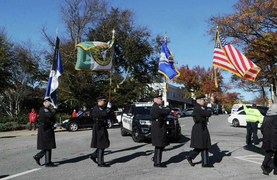 The Greenwich Veterans Day Ceremony on Greenwich Avenue and at the War Memorials in Greenwich, Conn., Saturday, Nov. 11, 2017. Photo: File / Greenwich Time
