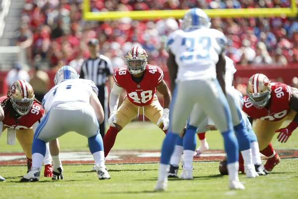 91b80668b8d Linebacker Fred Warner has been 49ers  biggest surprise ...