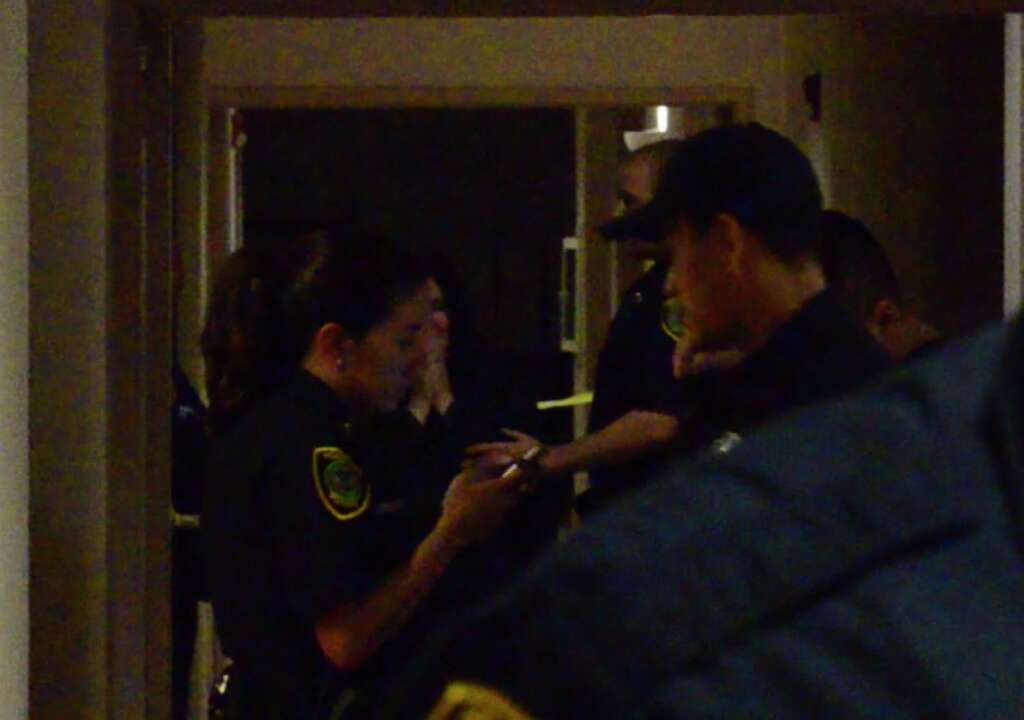 Two people have been found shot to death Thursday evening at a luxury Houston apartment complex, according to police. Photo: Jay R. Jordan