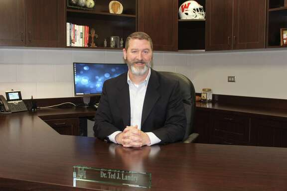 Ted Landry is a few months into his first year as principal of The Woodlands High School.