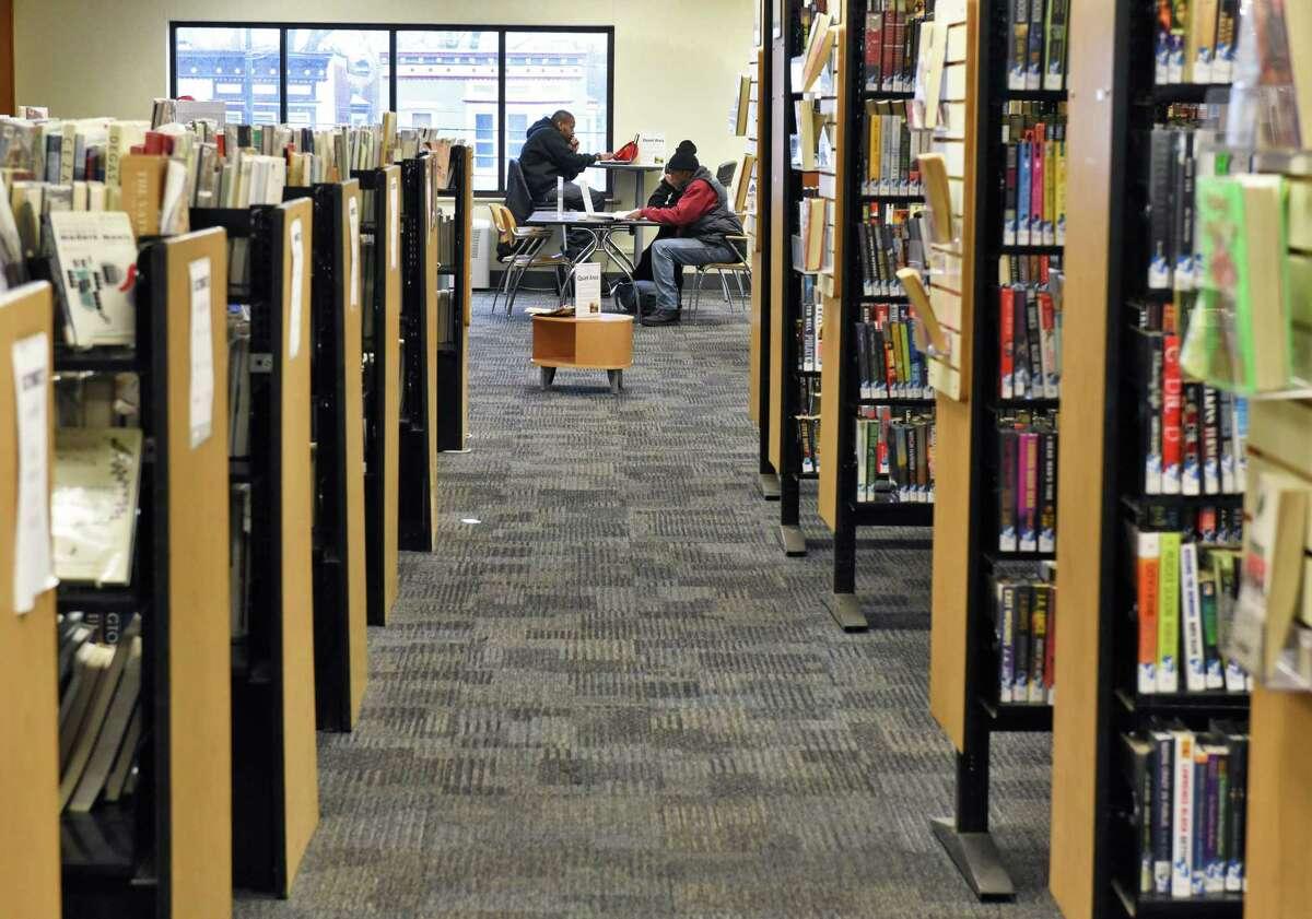 Inside the Albany Public Library on Washington Avenue Thursday Jan. 19, 2017 in Albany, NY. (John Carl D'Annibale / Times Union)