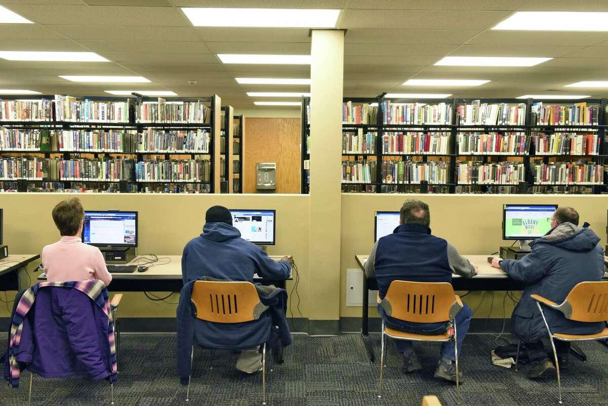 Technology Commons inside the Albany Public Library on Washington Avenue Thursday Jan. 19, 2017 in Albany, NY. (John Carl D'Annibale / Times Union)