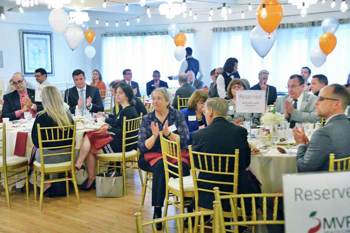 A Rensselaer County Chamber luncheon honors the