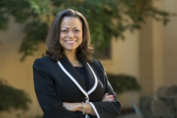 Nicole Taylor stands for a portrait at Stanford University on Oct. 29, 2015. She was named president and CEO of the Silicon Valley Community Foundation on Nov. 8, 2018. Nicole Taylor, Associate Vice Provost for Student Affairs and Dean of Community Engagement