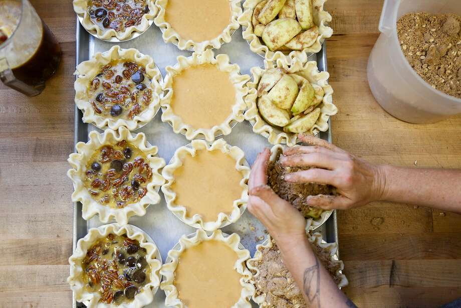 Pies being prepared at Black Jet Baking Co. Click on the slideshow ahead to see where you can grab Bay Area pies on Pi Day >>> Photo: Amy Osborne, Special To The Chronicle