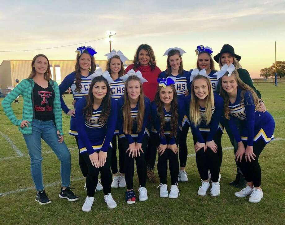 This is the first year in several years that the Plainview Christian Academy has had a full cheerleading squad. Photo: Courtesy Photo