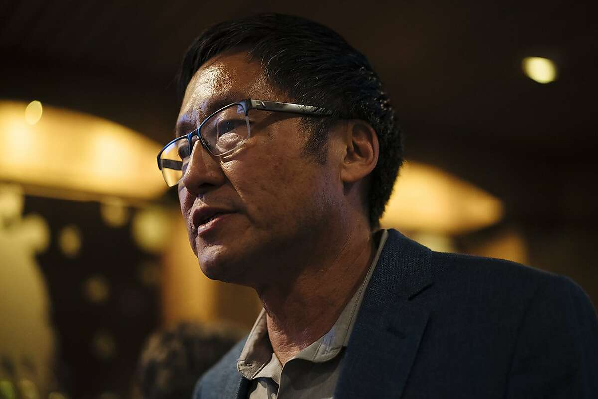 Gordon Mar, Candidate for District 4 supervisor, at his watch party at the United Irish Cultural Center in San Francisco, Calif., on Tuesday, Nov. 6, 2018.
