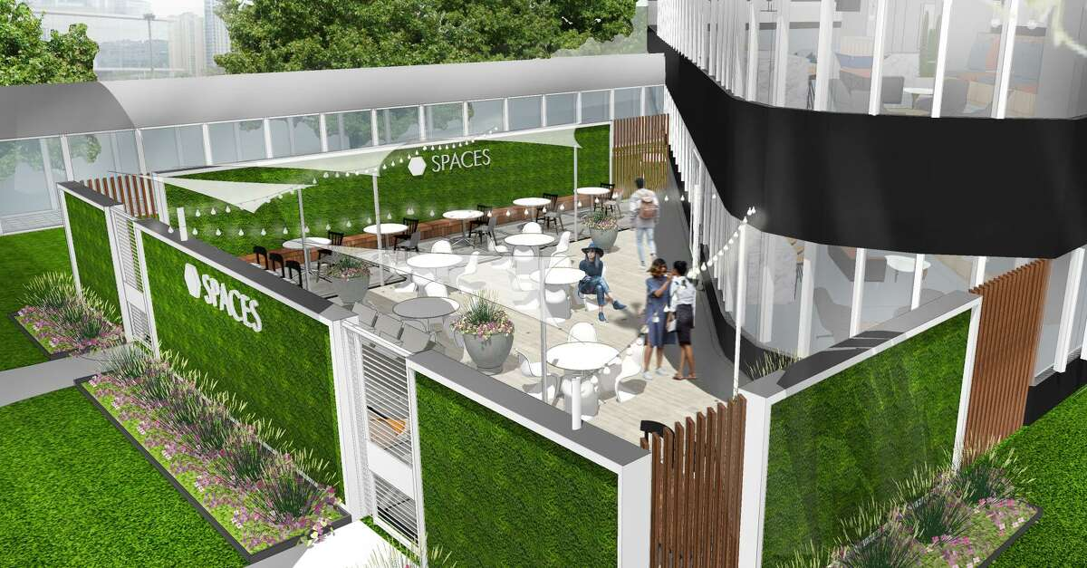 Spaces will have a private, 1,700-square-foot landscaped terrace at its upcoming coworking location at Two Post Oak Central. Opening is planned in the fourth quarter 2019.