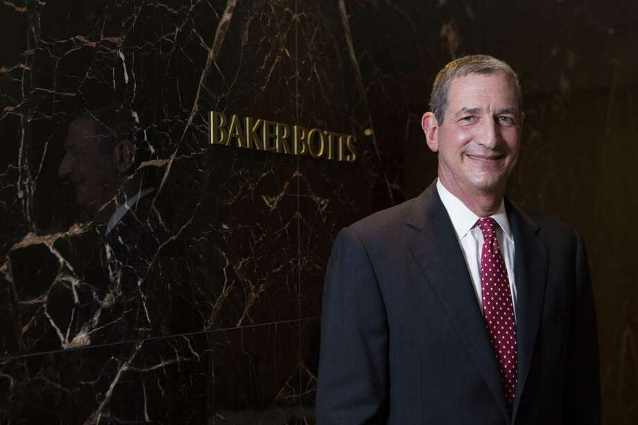 Andy Baker, managing partner of Houston-based Baker Botts, says it is no surprise that out-of-state firms continue to have interest in Texas and predicts there will be more firm mergers. Photo: Marie D. De Jesus, Staff / Houston Chronicle / © 2015 Houston Chronicle