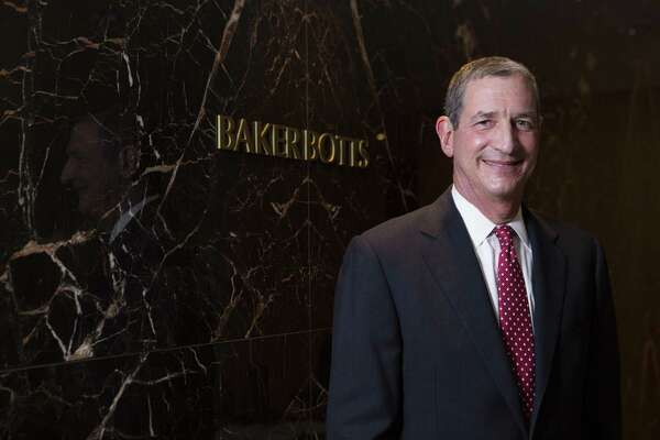 Andy Baker, managing partner of Houston-based Baker Botts, says it is no surprise that out-of-state firms continue to have interest in Texas and predicts there will be more firm mergers.