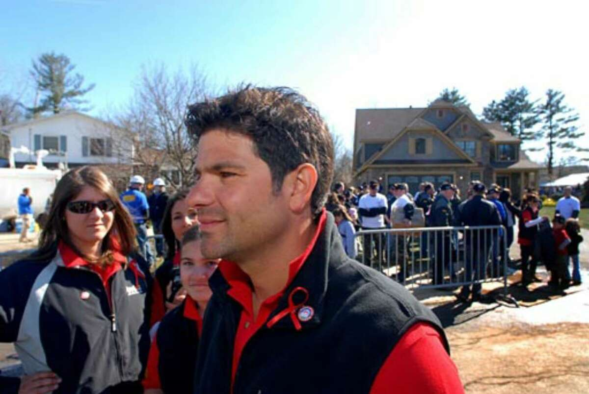 George Amedore Jr. of Amedore Homes, after the unveiling of Debbie Oatman's new home.