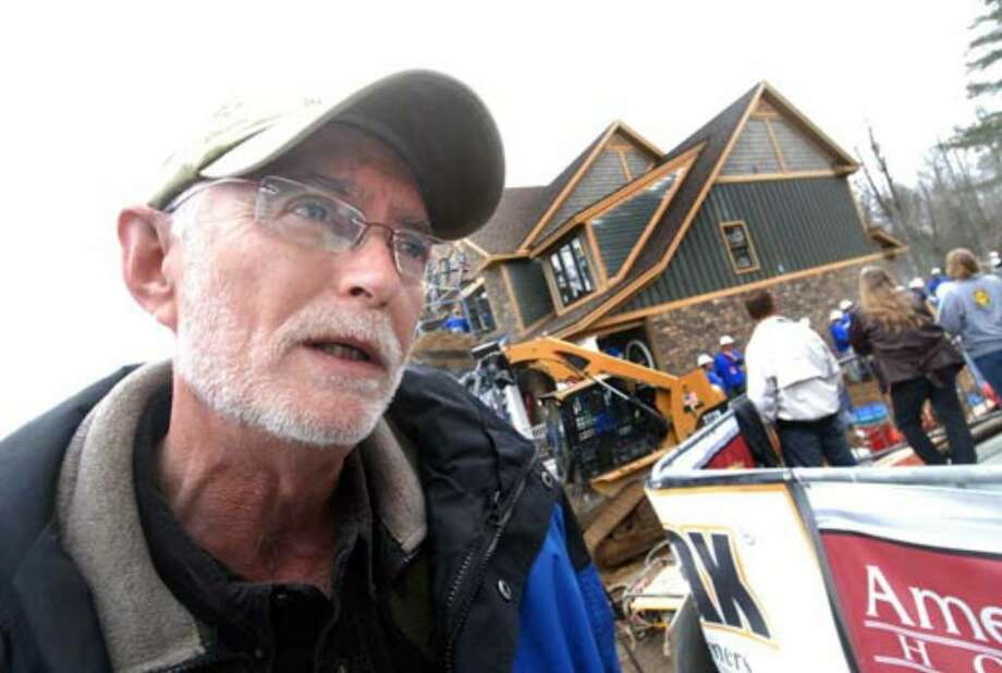Show co-producer Conrad Rickett speaks about the project at Debbie Oatman's home, Tuesday, March 27. Photo: Steve Jacobs