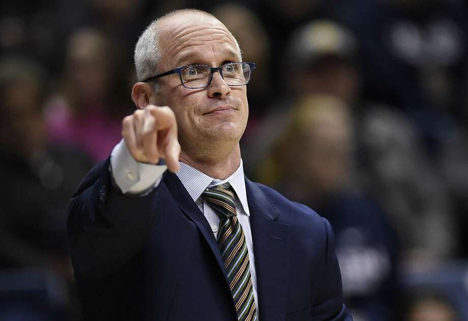 UConn coach Dan Hurley gestures to his team during the first half of a season-opening win over Morehead State Thursday. (AP Photo/Jessica Hill) Photo: Jessica Hill / Associated Press / Copyright 2018 The Associated Press. All rights reserved