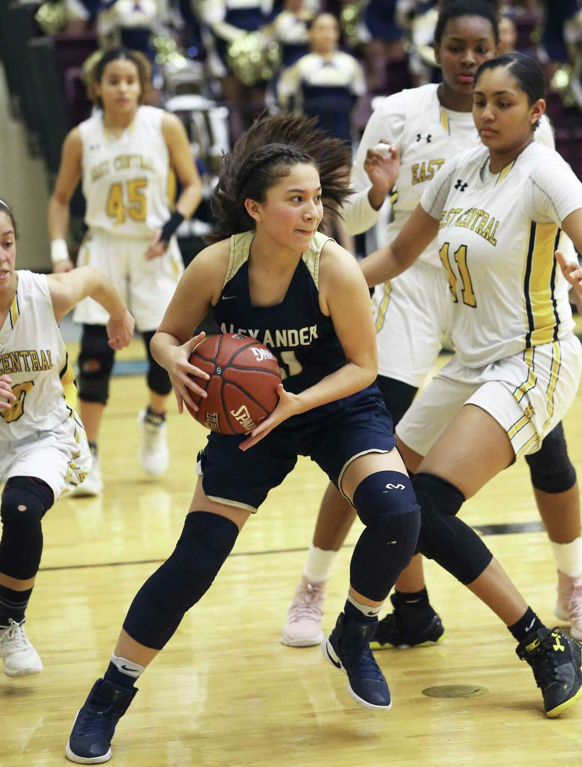 Sheyla Cardenas had a team-best 18 points as Alexander defeated Moody 66-36 Thursday night at the CC Mira's Riviera Tournament. The Lady Bulldogs swept the day also knocking off SA John Jay 44-36.