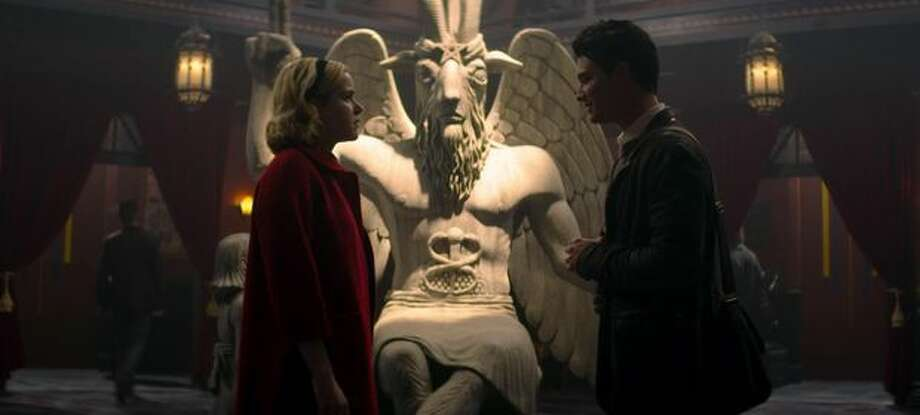 The Satanic Temple is suing Netflix, alleging unauthorized use of the goat-headed deity Baphomet. Photo: Netflix