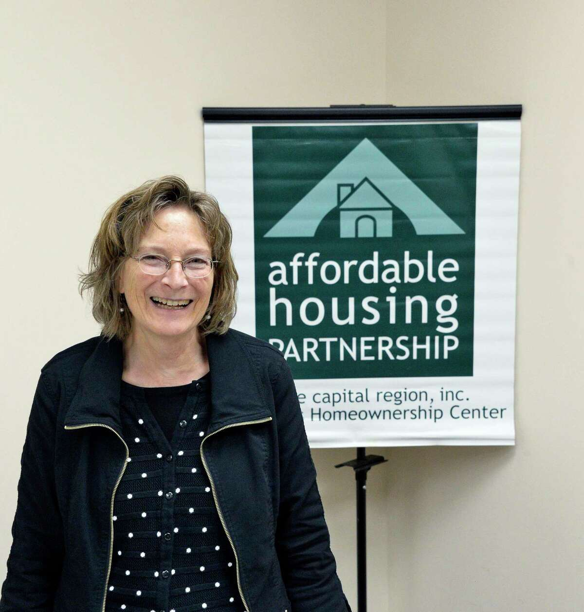 Affordable Housing Partnership executive director Susan Cotner in their offices Tuesday Nov. 6, 2018 in Albany, NY. (John Carl D'Annibale/Times Union)